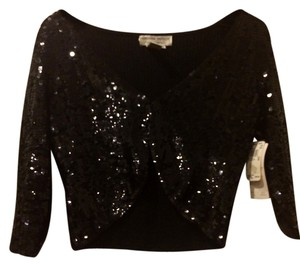 Adrianna Papell Sequin Top Black