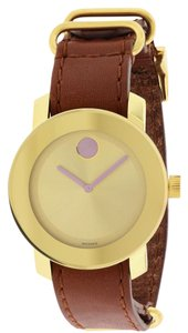 Movado Movado Bold Leather Unisex Watch 3600363