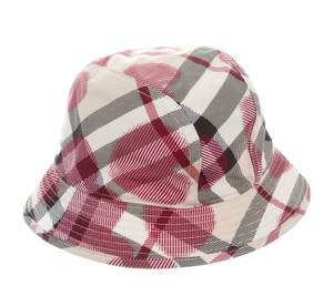 Burberry Beige, red multicolor Burberry Nouse Check print bucket hat