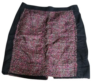 J.Crew Mini Skirt Black/ Pink