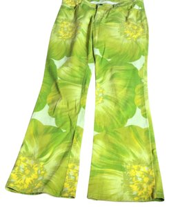 Theory Flare Pants Lime/Yellow
