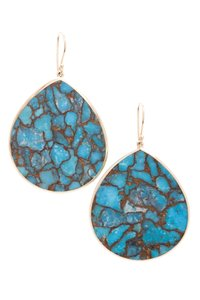 Ippolita Ippolita 18K Gold Turquoise Teardrop Rock Candy Earrings