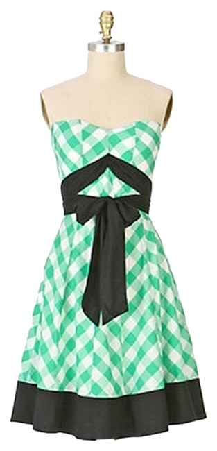 Preload https://item1.tradesy.com/images/anthropologie-green-black-white-gingham-strapless-by-odille-knee-length-short-casual-dress-size-2-xs-2098495-0-0.jpg?width=400&height=650