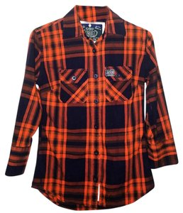 Super Dry Button Down Shirt Red & Black