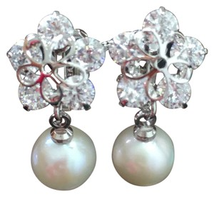 Other earrings,clip on earrings,pearl earrings,silver earrings,bridal jewelry, wedding gift
