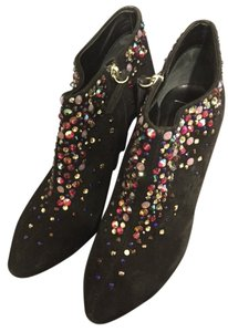 Giuseppe Zanotti Black With Colorful Rhinestones Boots