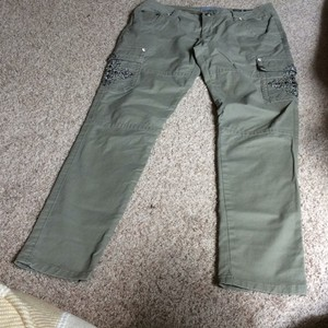 Miss Me Cargo Pants Army Green