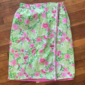 Lilly Pulitzer LIMITED EDITION Pink Green Terrycloth Towel Wrap