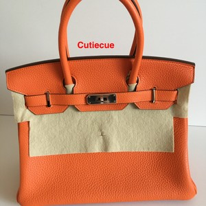 Hermès Satchel in Feu - Orange