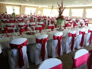 193 Apple Red Satin Sashes
