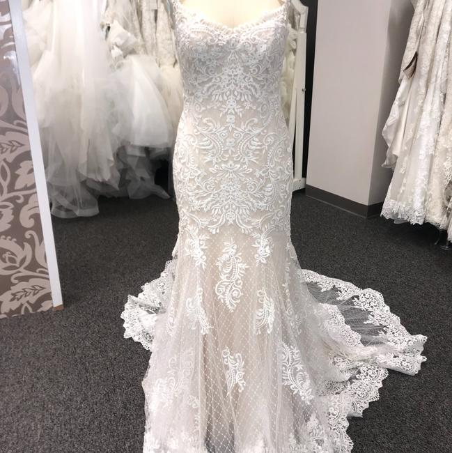 Item - Ivory/Nude Lace Melrose Leigh Sexy Wedding Dress Size 8 (M)