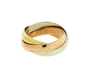 Cartier Cartier Women's 18k 3 Tone Rose, White & Yellow Gold Trinity Band Ring