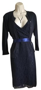 J.Crew Shift Sophisticated Satin And Lace Dress