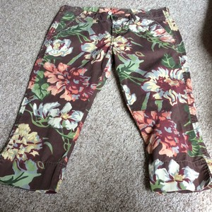 Lucky Brand Capri/Cropped Pants Brown/Peach