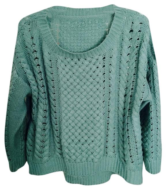Preload https://item1.tradesy.com/images/mint-greenjade-oversized-zara-style-knit-cable-sweaterpullover-size-4-s-2098565-0-0.jpg?width=400&height=650