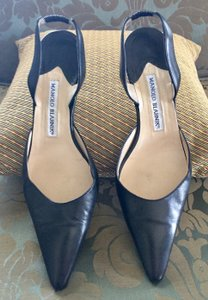 Manolo Blahnik Black/Beige Pumps