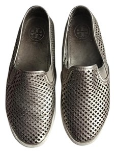 Tory Burch Jesse Sneakers Perforated Sneakers Slip Ons Gold Flats