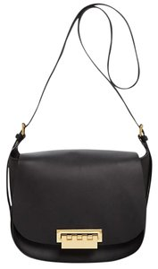 Zac Posen Gold Zp1523 Black Leather Eartha Shoulder Bag