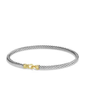 David Yurman Bangle Buckle 3 mm Bracelet w/ 18kt gold