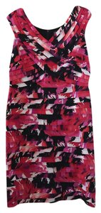 Adrianna Papell Pleated Stretchy Timeless Dress