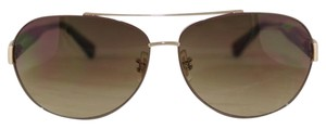 Coach New-With-Tags Coach Brown Aviator Sunglasses S1021-223/MP1029