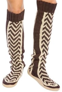 Gypsy05 Cream/Brown Boots