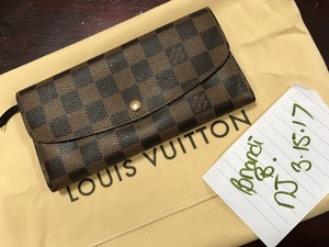 Louis Vuitton Auth Louis Vuitton Emilie brown DE Wallet