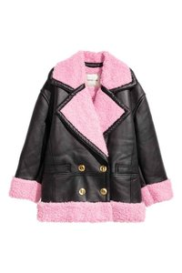 Kenzo x H&M Blacl and Pink Leather Jacket