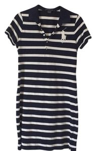 Ralph Lauren short dress navy and white Shirt on Tradesy