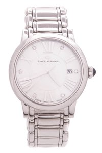 David Yurman David Yurman Stainless Steel & Diamond 38mm Watch