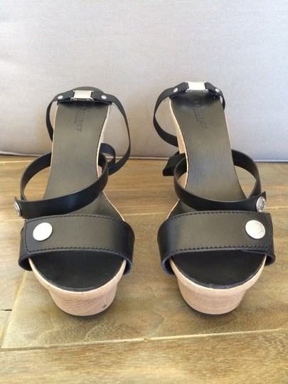 Project Rucoline Leather Black Sandals