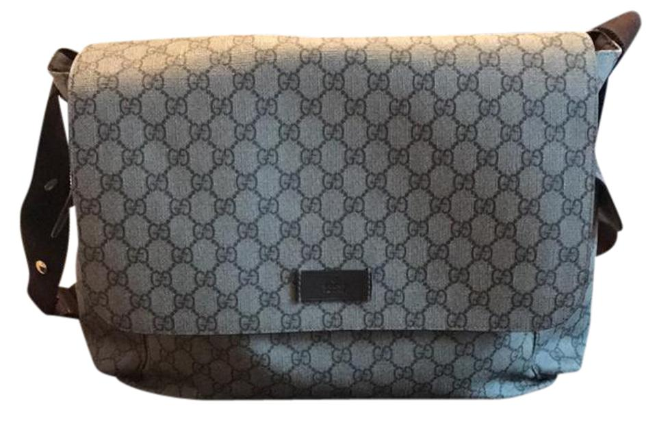 Gucci Guccissima Faux Leather Diaper Bag With Changing Pad Cocoa
