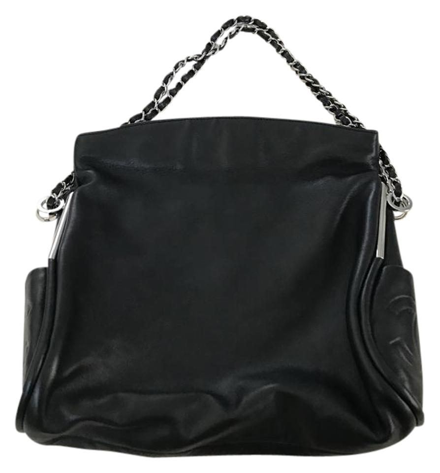 Chanel Ultra Soft Small Black Lambskin Leather Hobo Bag - Tradesy e88643cced