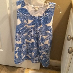 J.Crew Top Blue and White floral