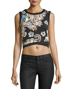 5Twelve Crop Flora Top Black