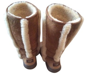 UGG Australia Uggs Sherlin Fur Trim Tall Color Cognac Boots