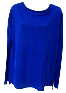 Vince Dolman Light Knit Spring Tunic Boat Neck Sweater