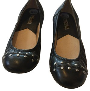 MICHAEL Michael Kors Leather Studded Black Flats