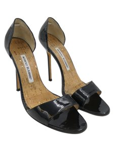 Manolo Blahnik Manolo Heels Peep Toe Heels Black Pumps