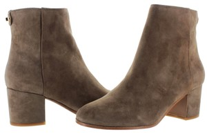 Coach Suede Ankle Leather Taupe Boots