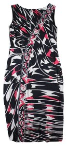 Emilio Pucci Abstract Sleeveless Sheath Ruched Dress