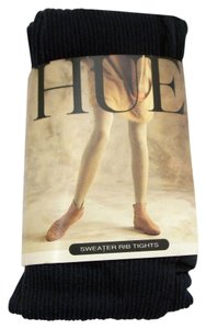 Hue Hue Sweater Rib Tights Ribbed Pantyhose Navy Blue One Size Style 4342