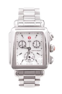 Michele Michele Stainless Steel Deco Chronograph Women's Watch