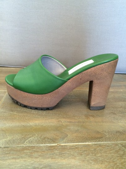 Fausto Santini Leather Comfortable Green Sandals