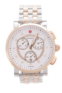 Michele Michele Two-Tone Stainless Steel Diamond Large Sport Sail Watch