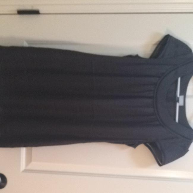 H&M short dress Gray, Looks Like Silk, Pretty Detailing Around Neckline And Sleeve on Tradesy
