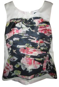 Dolce&Gabbana Top ivory pink and black floral pattern