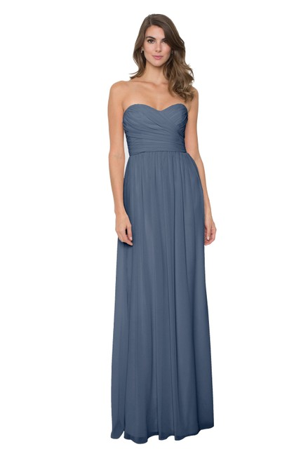 Item - French Blue Chiffon Madeline Formal Bridesmaid/Mob Dress Size 6 (S)