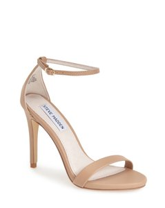 Steve Madden Stecy Patent Leather Nude - Natural Smooth Sandals