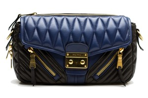 Miu Miu Leather Strap Cross Body Bag